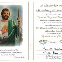 Embracing Newtown Mass Cards 126