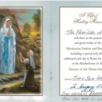 Embracing Newtown Mass Cards 151