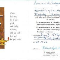 Embracing Newtown Mass Cards 27