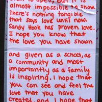Embracing Newtown Volunteer Favorite Letters 122