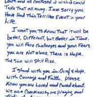 Embracing Newtown Volunteer Favorite Letters 20