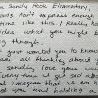Embracing Newtown Volunteer Favorite Letters 200