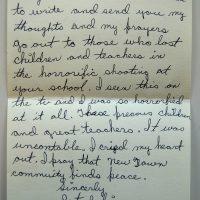 Embracing Newtown Volunteer Favorite Letters 218