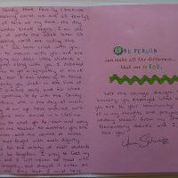 Embracing Newtown Volunteer Favorite Letters 220