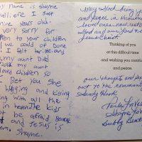 Embracing Newtown Volunteer Favorite Letters 232