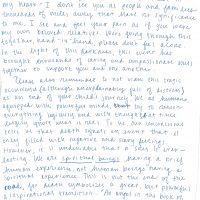 Embracing Newtown Volunteer Favorite Letters 24