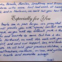 Embracing Newtown Volunteer Favorite Letters 243