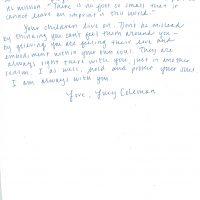 Embracing Newtown Volunteer Favorite Letters 25