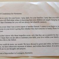 Embracing Newtown Volunteer Favorite Letters 257