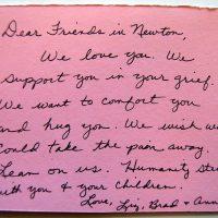 Embracing Newtown Volunteer Favorite Letters 264