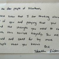 Embracing Newtown Volunteer Favorite Letters 294