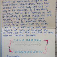 Embracing Newtown Volunteer Favorite Letters 311