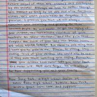 Embracing Newtown Volunteer Favorite Letters 337