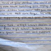 Embracing Newtown Volunteer Favorite Letters 338